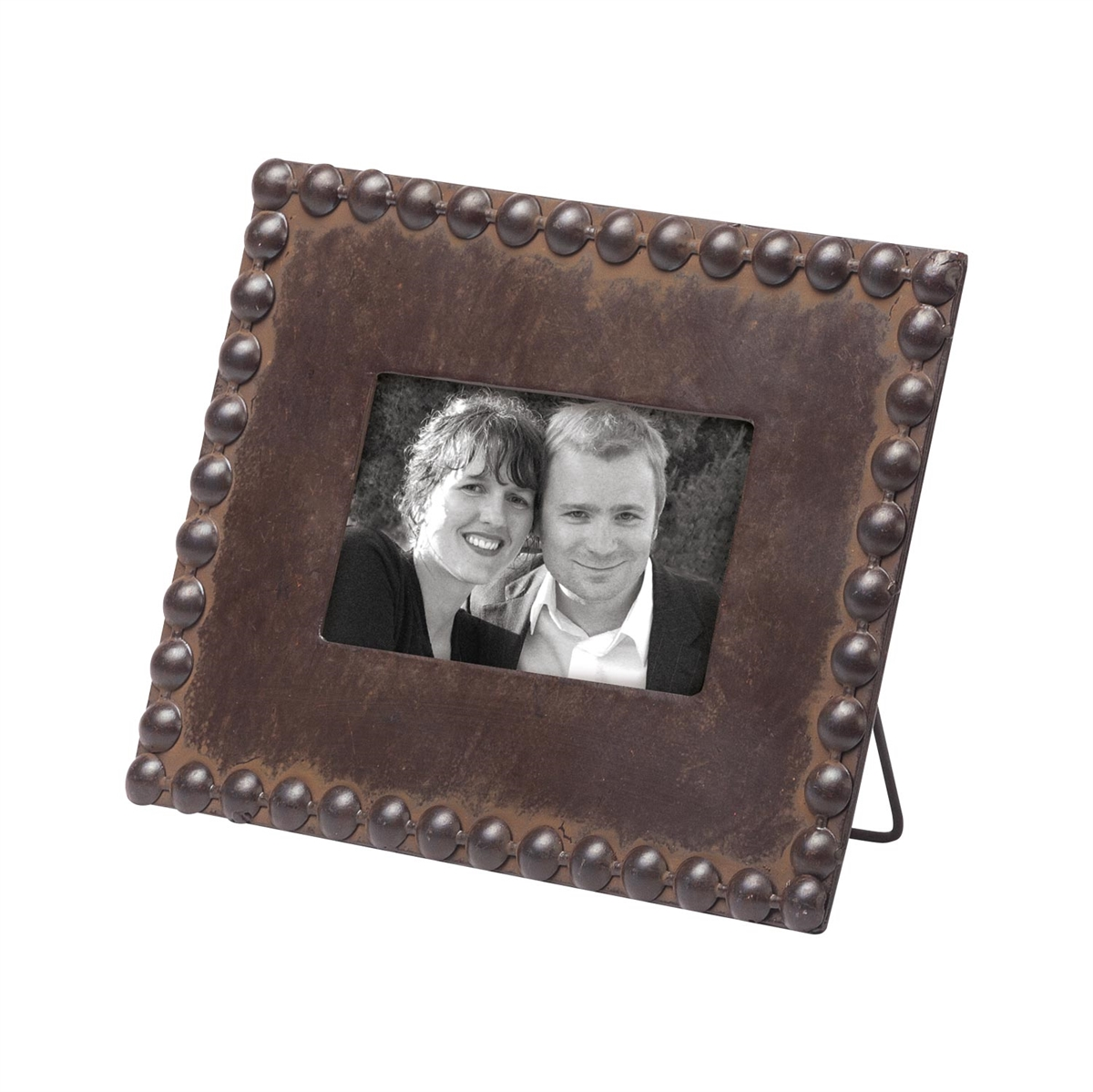 Beaded Picture Frame 4x6, Natural Photo Frame | Plum & Post