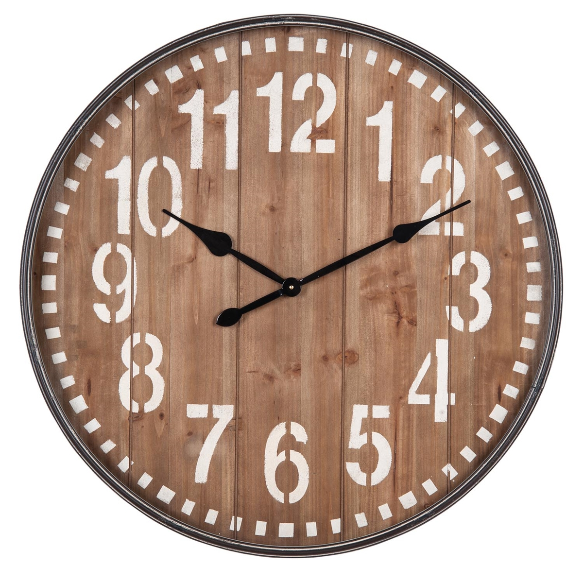 Slatted Wall Clock | Plum & Post