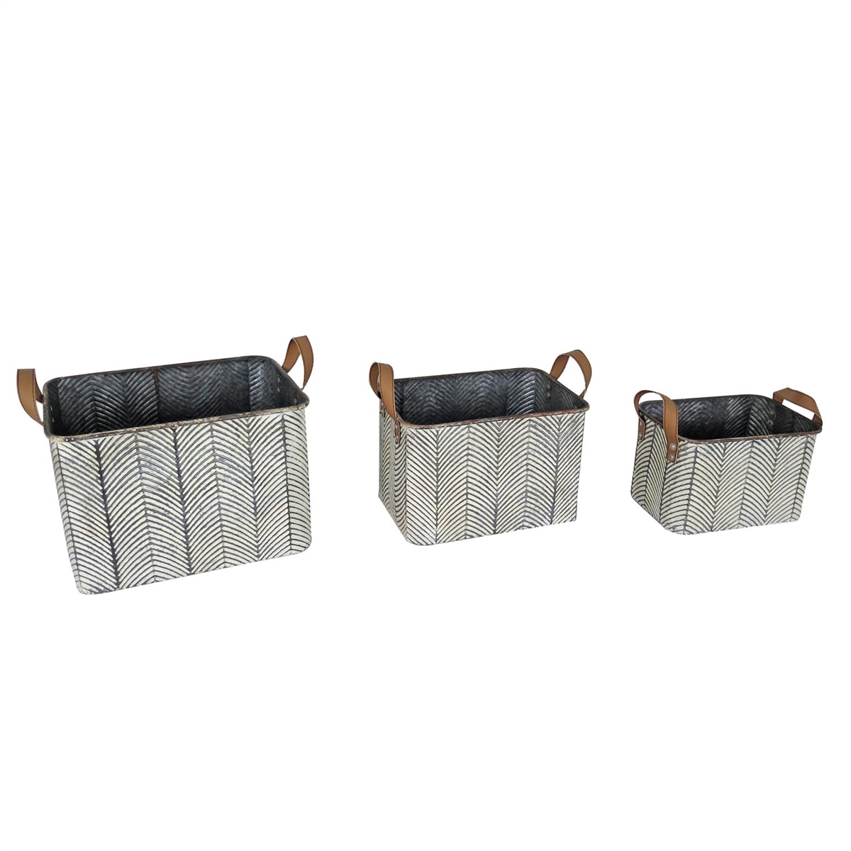 Braxton Baskets, Set of 3 Decorative Baskets | Plum & Post
