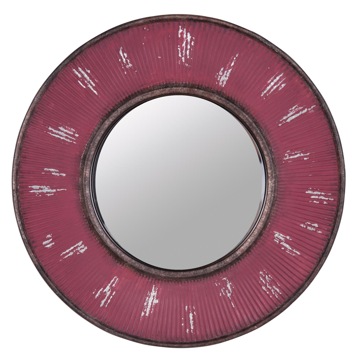 Sunburst Corrugated Mirror, Metal Decorative Mirror | Plum & Post
