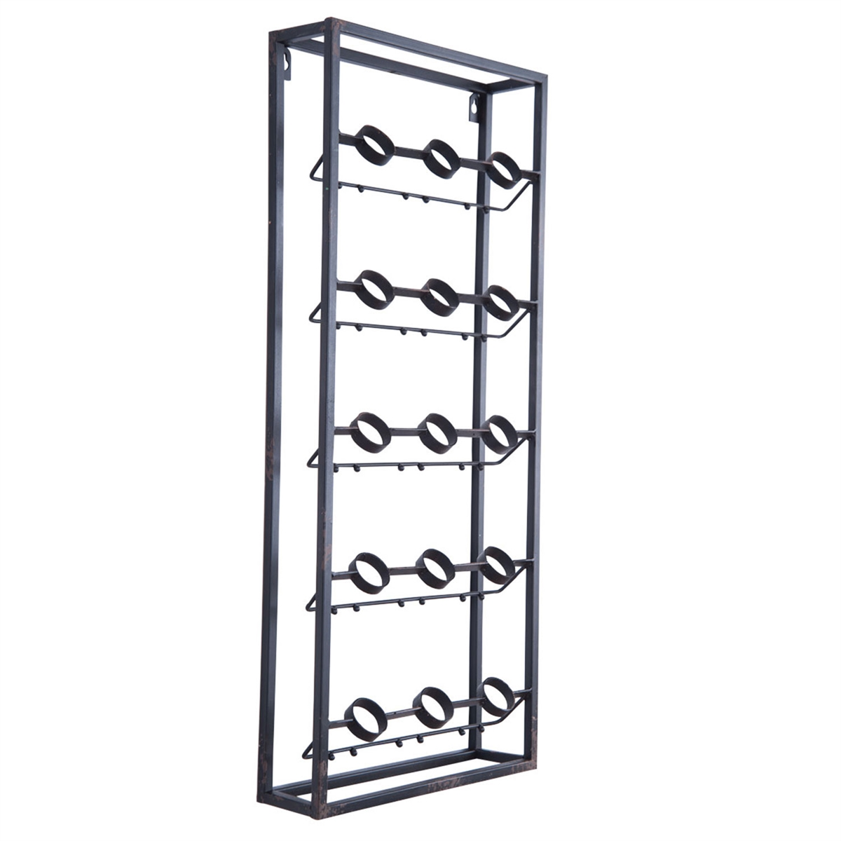 Metal Grid Wall Wine Rack Plum Post