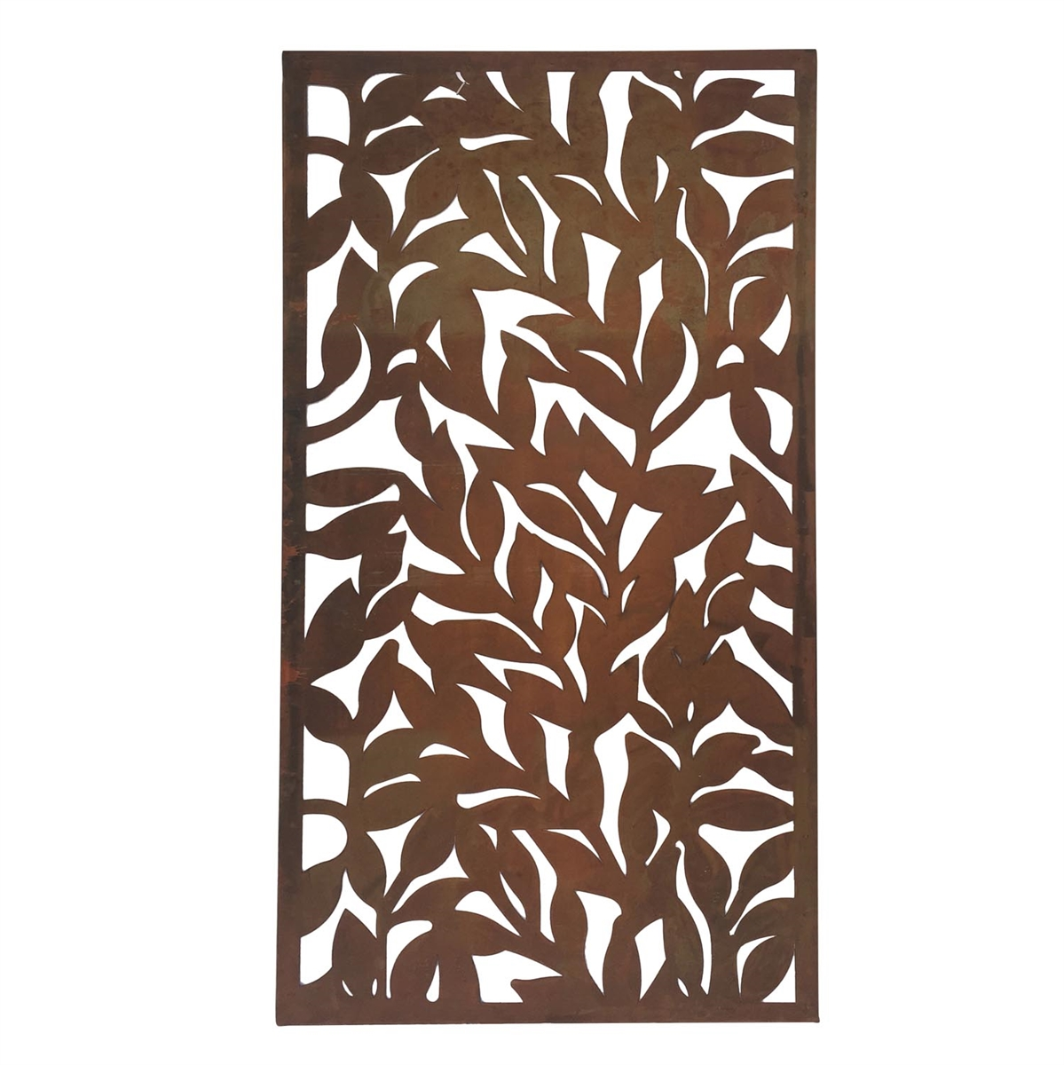 Metal leaf wall art plum post for Metal leaf wall art