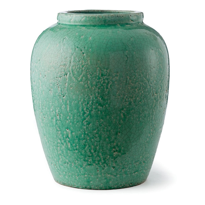 Amaya Urn Vase, Green | Plum & Post