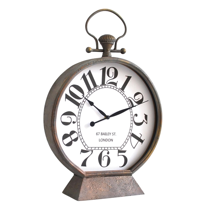 Scholar Tabletop Clock, Metal Tabletop Clock | Plum & Post