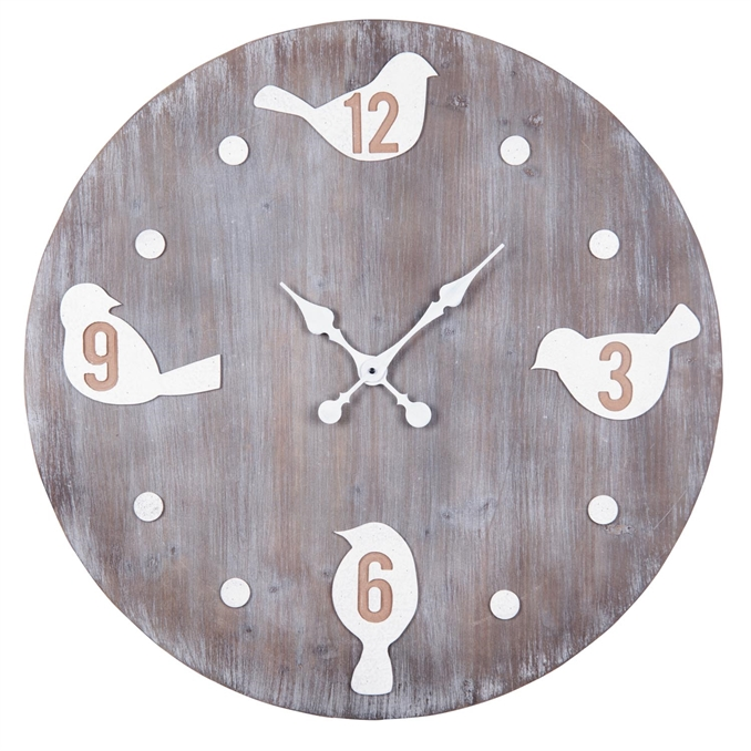 Bird Large Wall Clock, Wood Wall Clock | Plum & Post