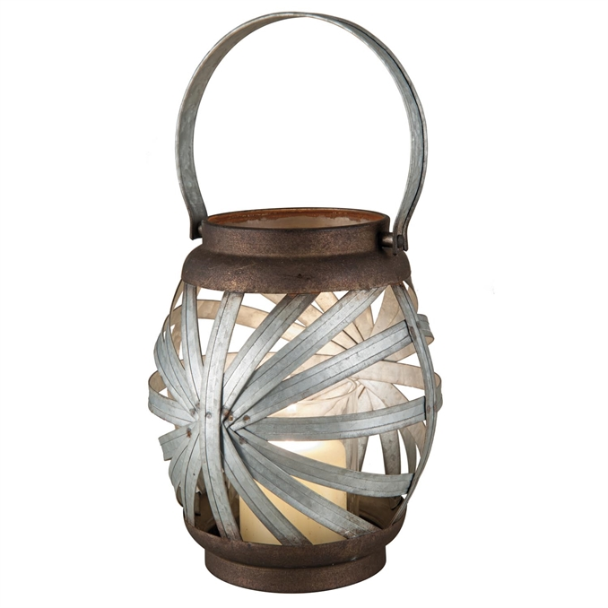 Sunburst Metal Candle Lantern, Small Candle Accessory | Plum & Post
