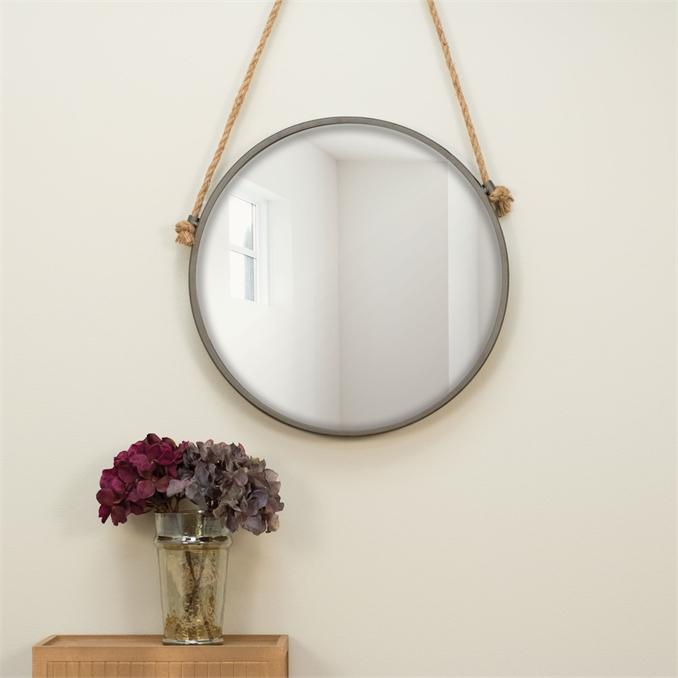 Rope Amp Circle Mirror Medium Plum Amp Post