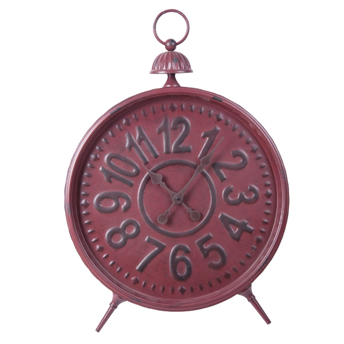 Red Metal Works Table Clock | Plum & Post