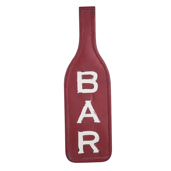 Metal Bottle Bar Sign, Wall Decor | Plum & Post