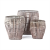 Bamboo Baskets, Set of Three Graywash | Plum & Post