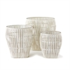 Bamboo Baskets, Set of Three Whitewash | Plum & Post