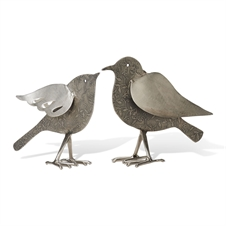 Silver Etched Birds, Set of 2 Figurine | Plum & Post