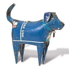 Recycled Dog, Standing Figurine | Plum & Post