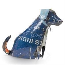 Recycled Dog Sitting, Large Figurine | Plum & Post