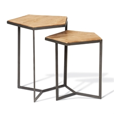 Pentagon Tables, Set of 2 Tables | Plum & Post