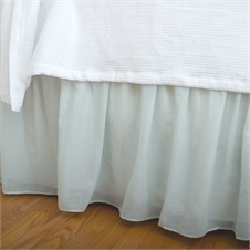 Voile Sea Glass Twin Bed Skirt | Plum & Post