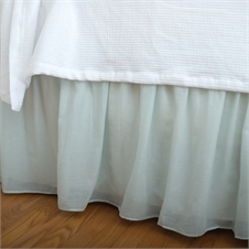 Voile Sea Glass Queen Bed Skirt | Plum & Post