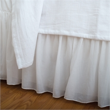 Voile White Twin Bed Skirt | Plum & Post
