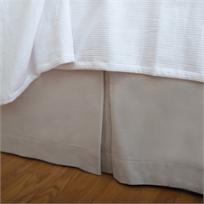 Hemstitch Natural Twin Bed Skirt | Plum & Post