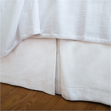 Hemstitch White King Bed Skirt | Plum & Post