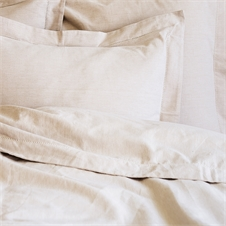Hemstitch Natural Queen Duvet Cover | Plum & Post