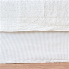 Diamond White Paneled Queen Bed Skirt | Plum & Post