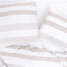 Noland Stripe Dune Queen Duvet Cover | Plum & Post