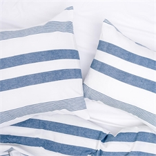 Noland Stripe Indigo Queen Duvet Cover | Plum & Post