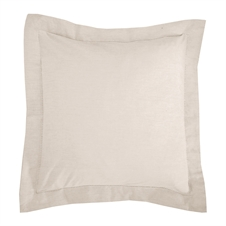 Signature Hemstitch Natural Pillow | Plum & Post