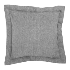 Signature Hemstitch Black Pillow | Plum & Post
