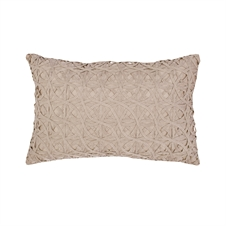 Ribbon Mesh Sandstone Pillow | Plum & Post