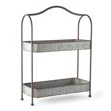 Galvanized 2-Tier Display Planter Stand | Plum & Post