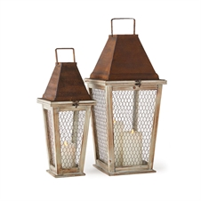 Monticello Lanterns, Set of Two | Plum & Post
