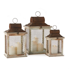 Timberlane Lanterns, Set of Three | Plum & Post