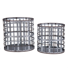 Lattice Nesting Baskets, Set of 2 Decorative Baskets | Plum & Post