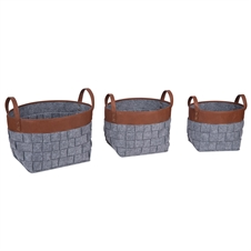 Tall Woven Nesting Baskets, Set of 3 Baskets | Plum & Post