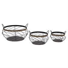 Handle Baskets With Rope, Set Of 3 | Plum & Post