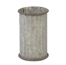 Corrugated Cylinder Pot, Decorative Accent | Plum & Post