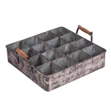 Galvanized Tray With Bins | Plum & Post