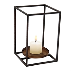 Cube Pillar Candle Holder, Large Candle Accessory | Plum & Post
