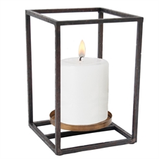 Cube Pillar Candle Holder, Small Candle Accessory | Plum & Post