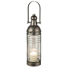 Farmhouse Lantern, Metal Candle Lantern | Plum & Post