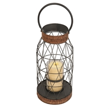 Wire Lantern With Cork Small | Plum & Post