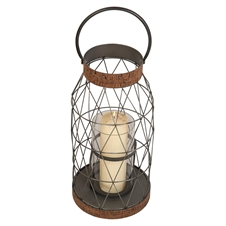 Wire Lantern With Cork Large | Plum & Post