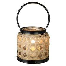 Woven Rattan Lantern Small | Plum & Post