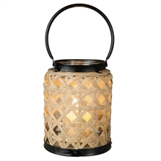 Woven Rattan Lantern Large | Plum & Post