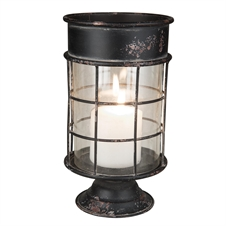 Metal And Glass Pillar Candle Holder, Large Candle Accessory | Plum & Post