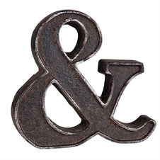 Rustic Ampersand, Metal Decorative Accent | Plum & Post