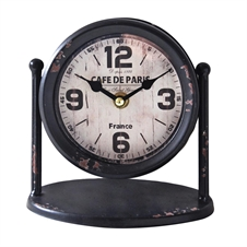 Black Table Clock on Stand, Decorative Clock | Plum & Post