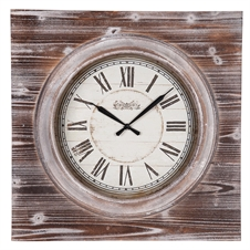 Washed Wood Wall Clock | Plum & Post